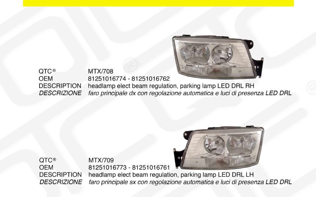 New product MAN MTX/708 MTX/709